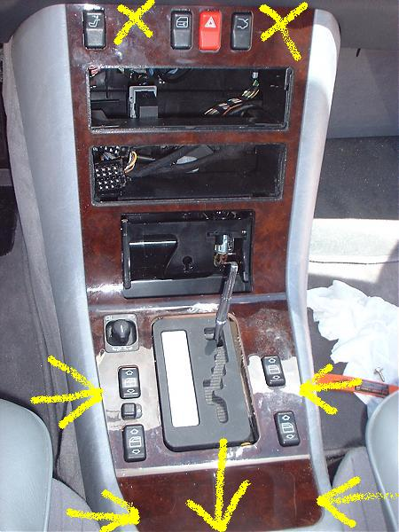 Center Console Wood Removal Mbworld Org Forums