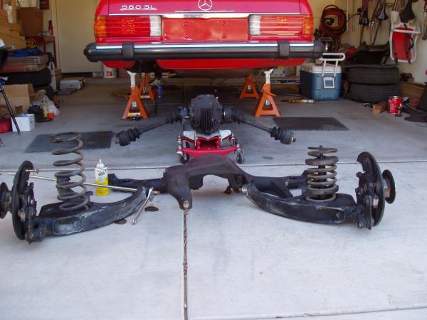 Mercedes subframe mounts motor mounts sway bar kit 560SL