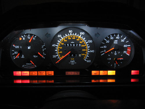 Mercedes w124 dashboard warning lights