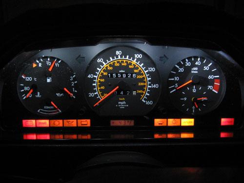 Improved Dash Lighting 300e 1986 Peachparts Mercedes