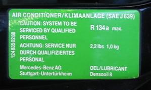 91 300D 2 5 A/C refrigerant quantity question - PeachParts Mercedes