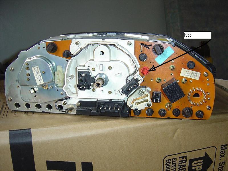 94 E420 Instrument Cluster Lights