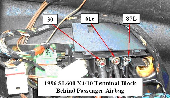 Astounding 1996 Sl600 Terminal X4 10 Connectors 61E And 87L Peachparts Wiring Database Plangelartorg