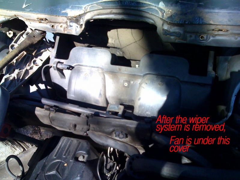 W124 Blower Motor Removal Photos - Page 5 - PeachParts Mercedes-Benz