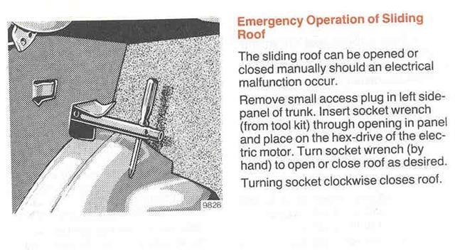 mercedes 190e manual sunroof