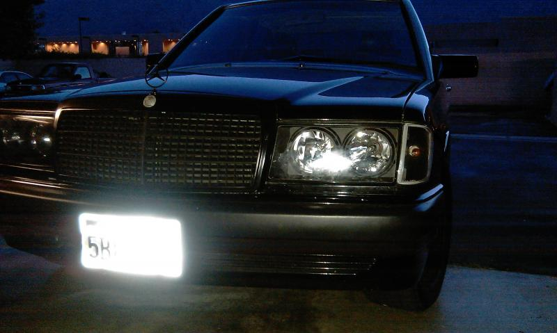 Aftermarket euro headlight upgrade w hid pics for Mercedes benz 190e headlights