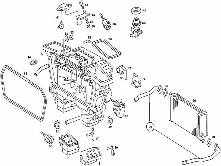 1992 mercedes 300d parts diagram html