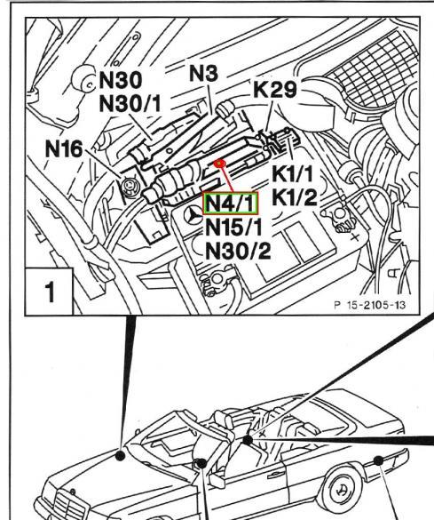 w124 - n4  1 - ea  cc module cable exchange