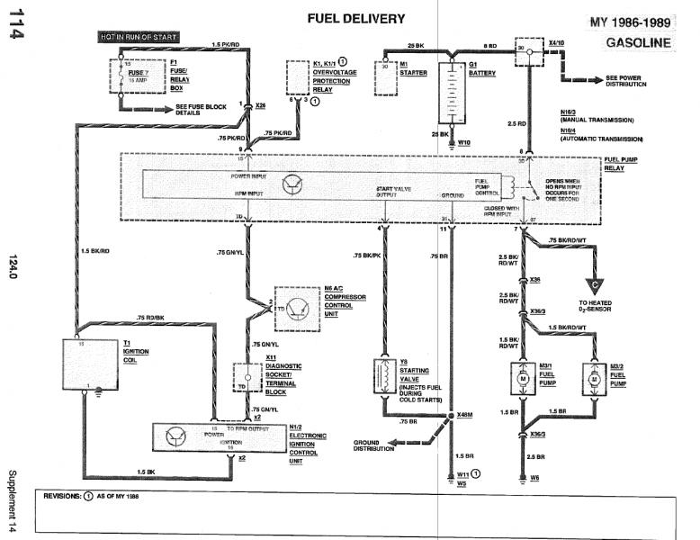 Wiring Diagram Mercedes Fuel Pump Relay