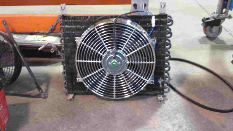 does this slimline electric fan make my radiator look fat. Black Bedroom Furniture Sets. Home Design Ideas