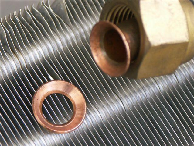 W109 A/C renovation: copper cones for plumbing AC lines - PeachParts ...