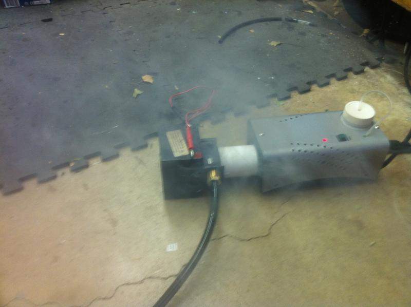 smoke machine to check for vacuum leaks