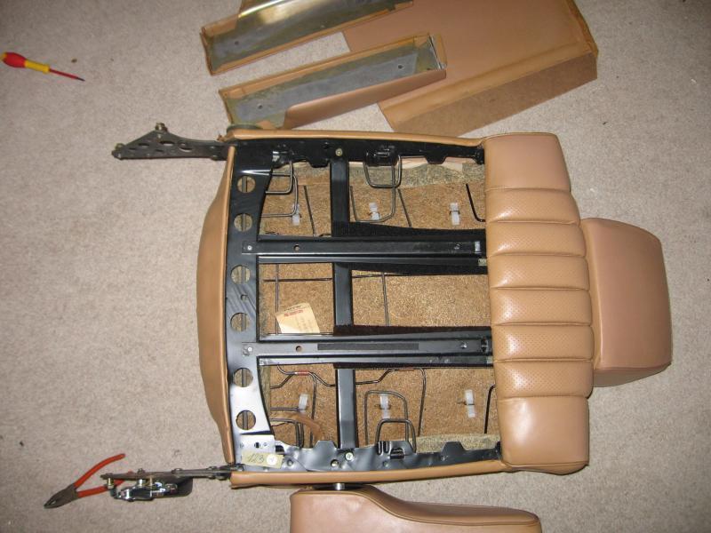 W123 seat repair for Mercedes benz upholstery repair